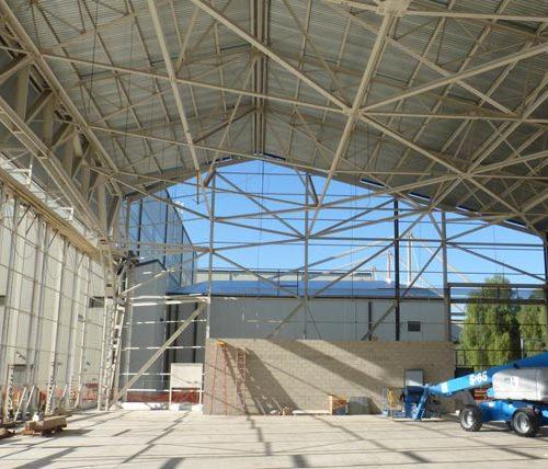 March ARB maintenance hangar during construction