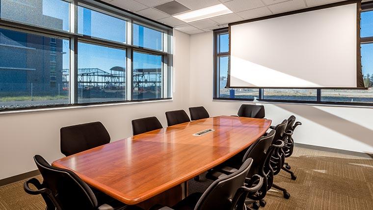 Meeting room at Moffett ANGB facility
