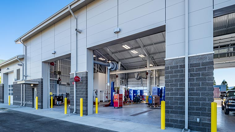 Vehicle maintenance facility at Moffett ANGB