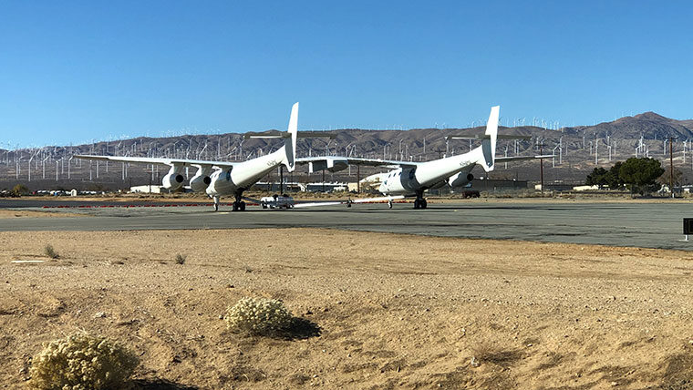 Mojave Airport runway with planes
