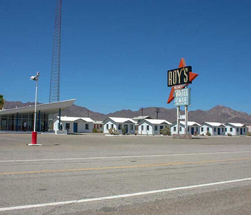Motel on the side of Route 66