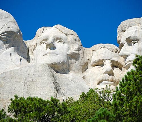 Mount Rushmore is just one of the tourist attractions near Rapid City Regional Airport