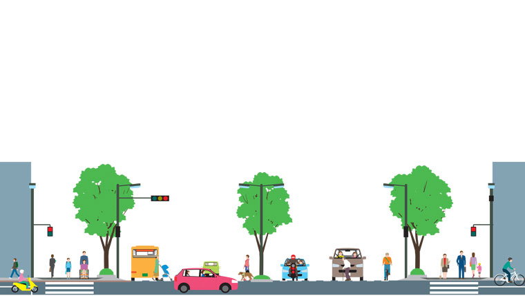 Design multimodal urban streets