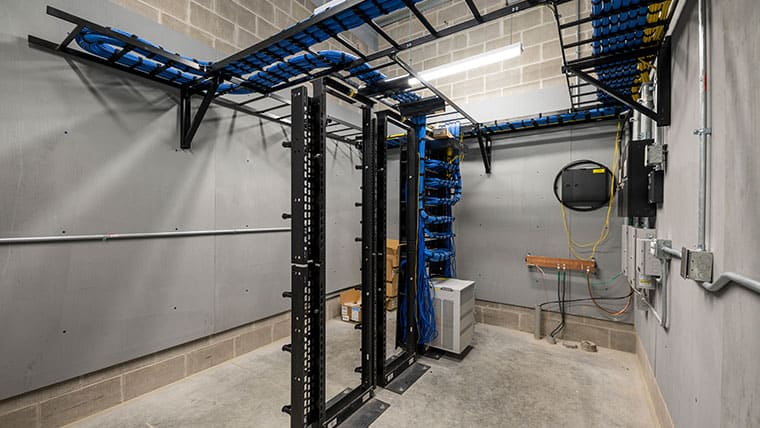 Nakoosa facility server room with racks