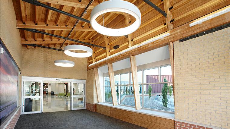 Central Nebraska Airport hallway with lighting aesthetics
