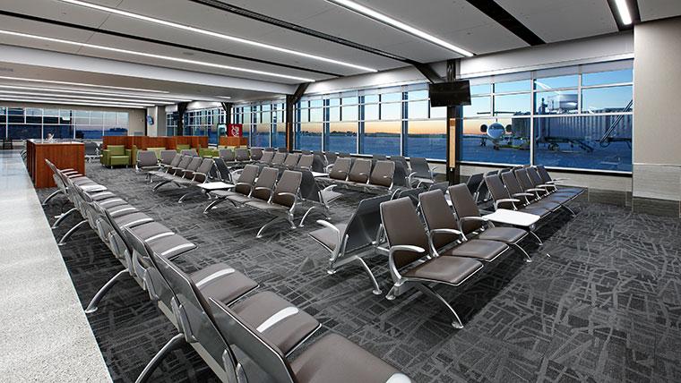 Central Nebraska Airport Terminal seating