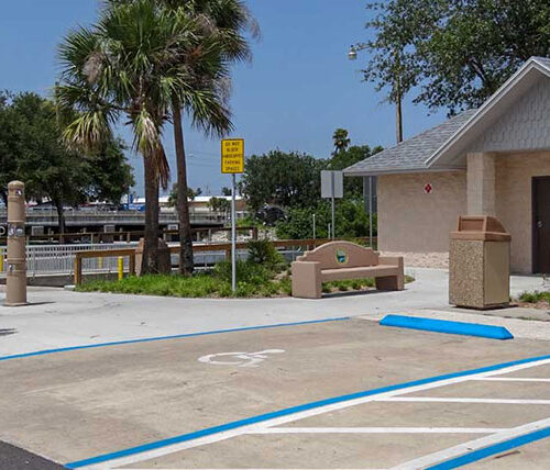 North causeway boat ramp accessible parking