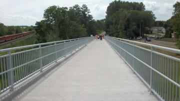 Concrete pedestrian bridge deck