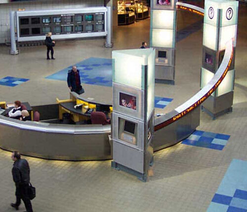 Interior of Pittsburgh airport
