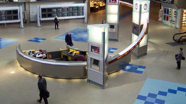 Interior of Pittsburgh airport