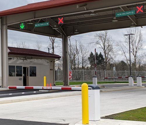 Portland Air National Guard Base Main Gate and drive