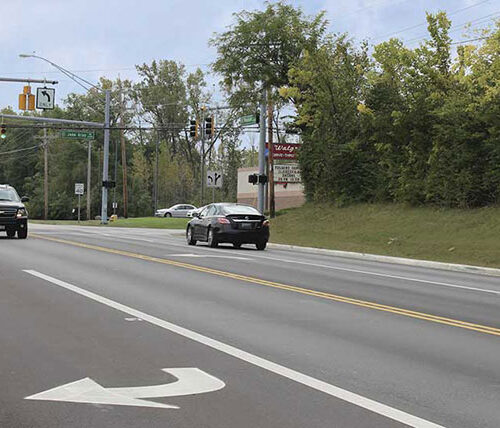 Ohio intersection safety improvements new turn lanes