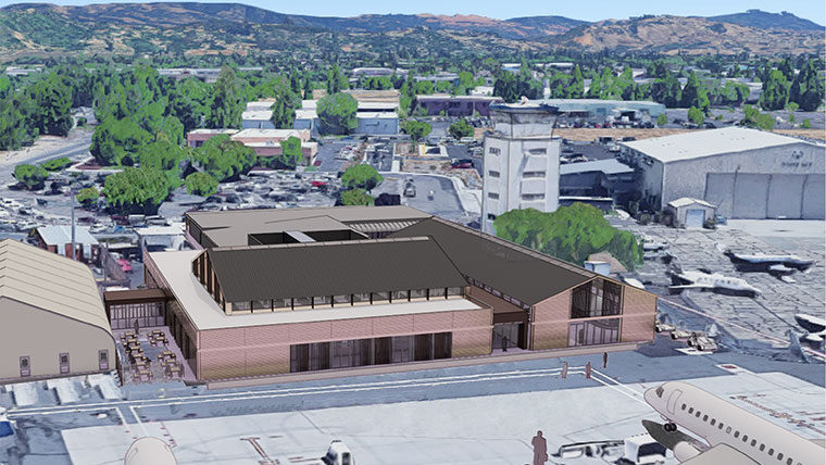 Rendering of Sonoma County Airport exterior