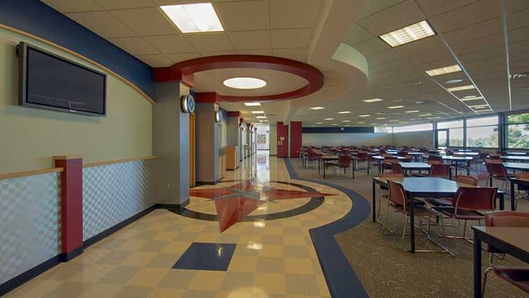 Southwest Technical College decorative hallway