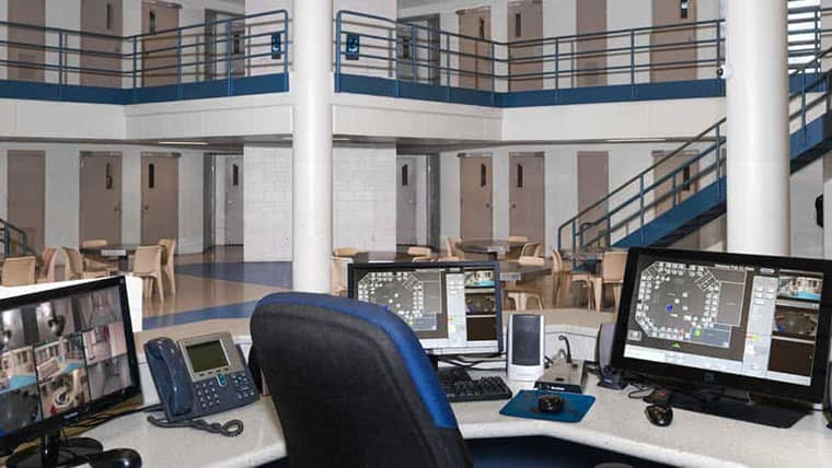 Kansas correctional facility security system