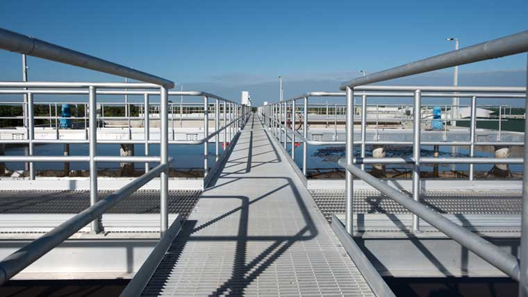 Walkway at South Central Wastewater Facility
