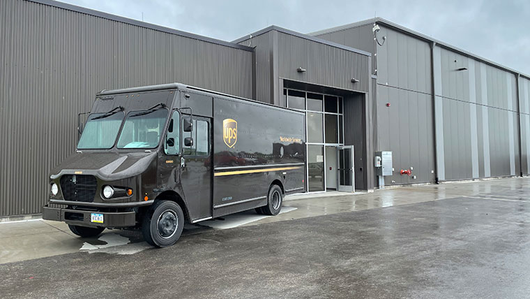 UPS truck outside of CID's west cargo facility