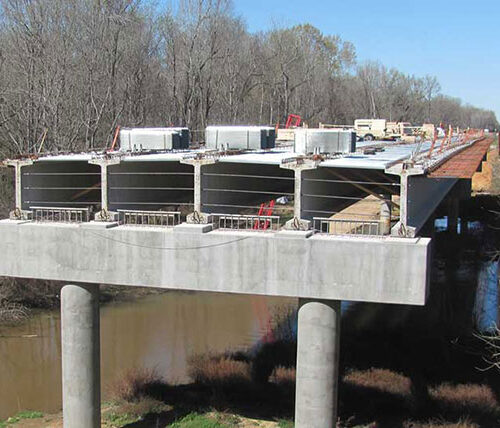 Construction on US 601 bridge
