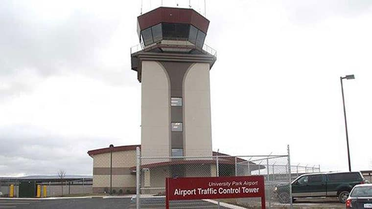 University Park Airport traffic control tower