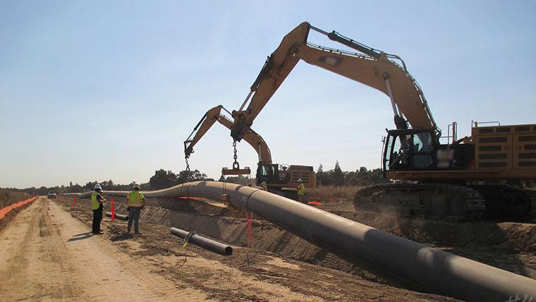 Installing water infrastructure