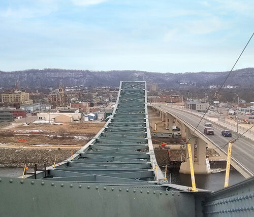Top of Winona Bridge in Minnesota