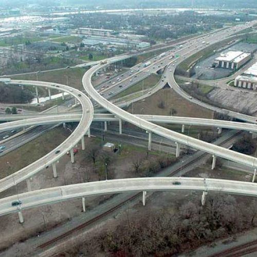 Aerial of MOT-75 interchange