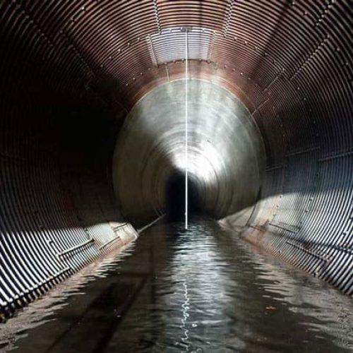 Broken bow diversion tunnel