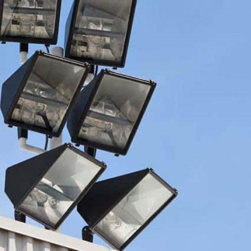 Spotlights on ANGB building