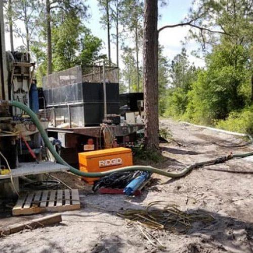 Deep Creek Well construction