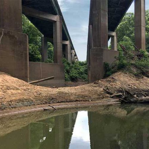 I-64 twin interstate bridges pre-construction