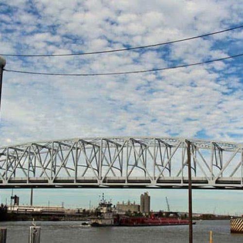 Sideview of Louisiana historic bridge