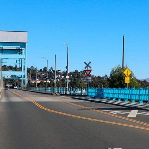 Mare Island Bridge with blue sky