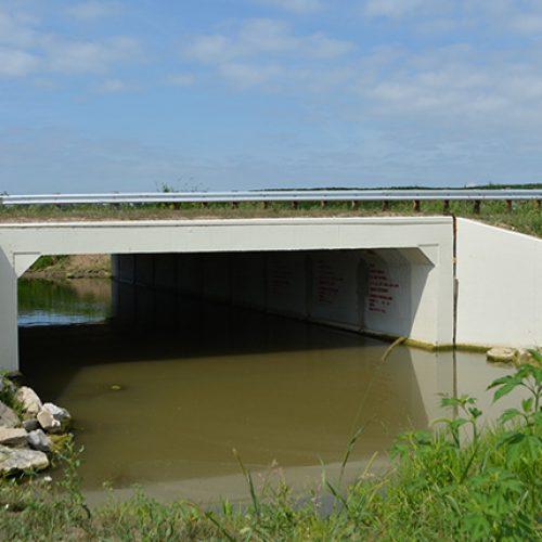 Single span bridge over water in Ohio