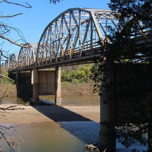 SH 78 bridge sideview from ground