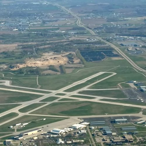 Dane County Airport aerial of Taxiway M