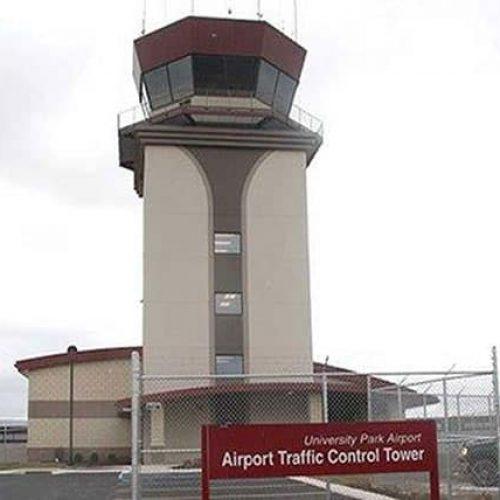 University Park Airport traffic control tower