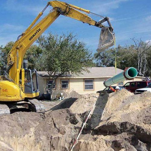 SR 415 utility installation